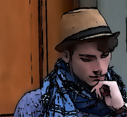 Junger Mann Mit Hut Young Guy With Hat My Life In A Comic World